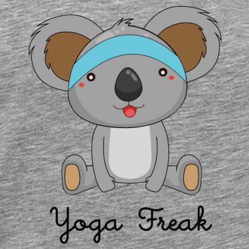 Yoga Freak, witziges Yoga Shirt mit Koala - Männer Premium T-Shirt
