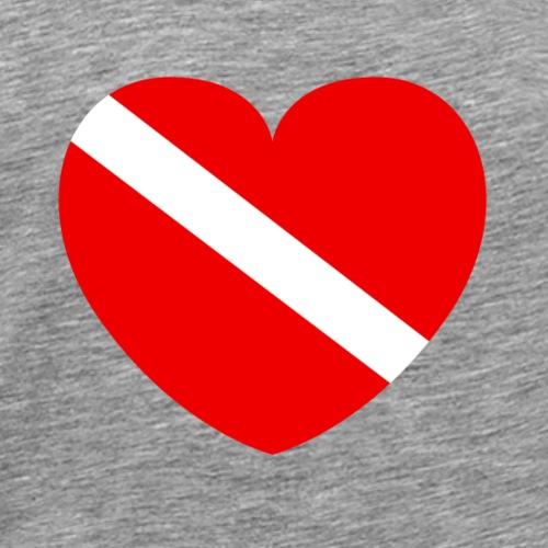 Taucher mit Herz - Männer Premium T-Shirt