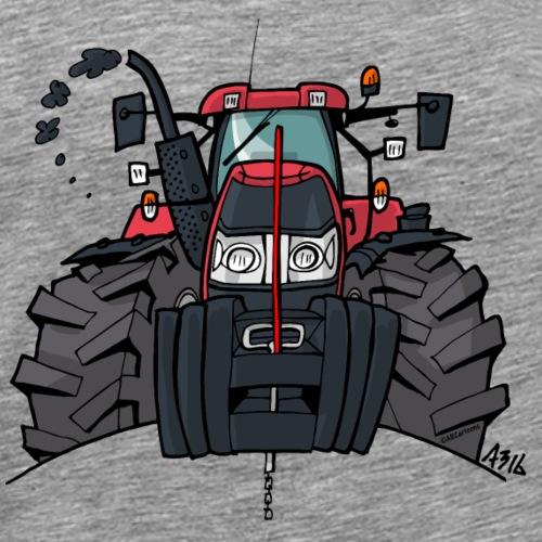 0354 rode trekker - Mannen Premium T-shirt