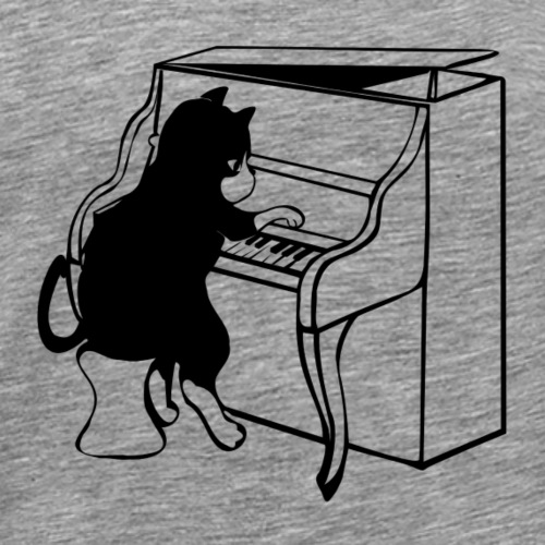 Piano Katze - Männer Premium T-Shirt