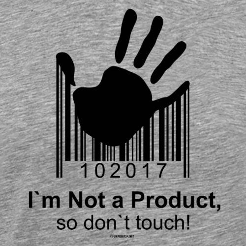 02-02 DON`T TOUCH - ÄLÄ KOSKE - Womancontest - Miesten premium t-paita