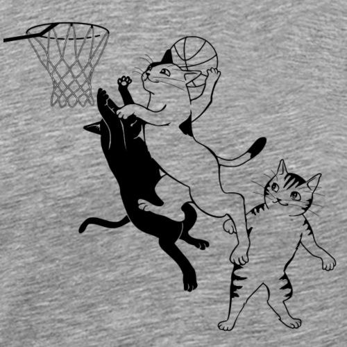 Baskeltball Katzen - Männer Premium T-Shirt