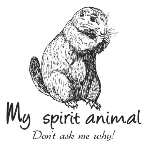Mon animal totem est le chien de prairie - T-shirt Premium Homme