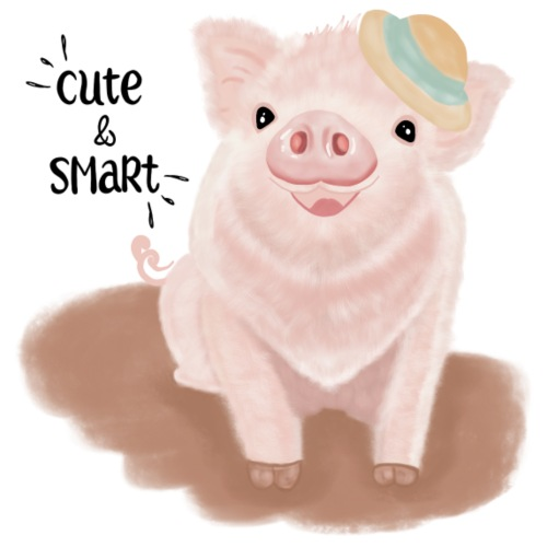 Cute & Smart Pig - Men's Premium T-Shirt