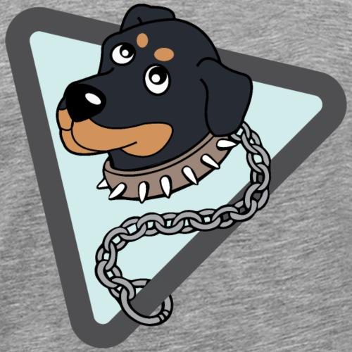 Netter Rottweiler an Kette - Männer Premium T-Shirt
