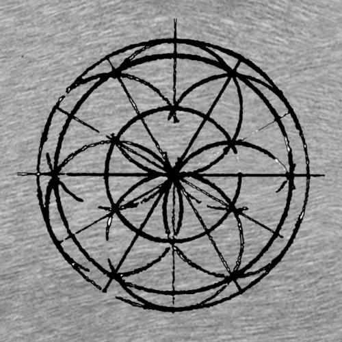 Divine Shape Noir - T-shirt Premium Homme