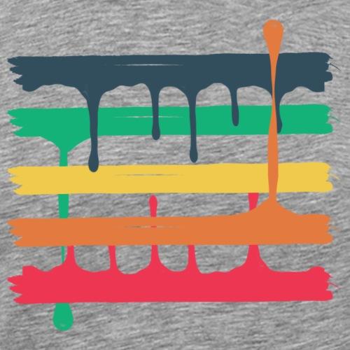 5 colored beams - Männer Premium T-Shirt