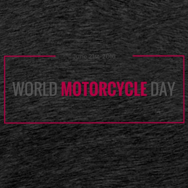 World Motorcycle Day 2016 Official T-Shirt ~ Grey