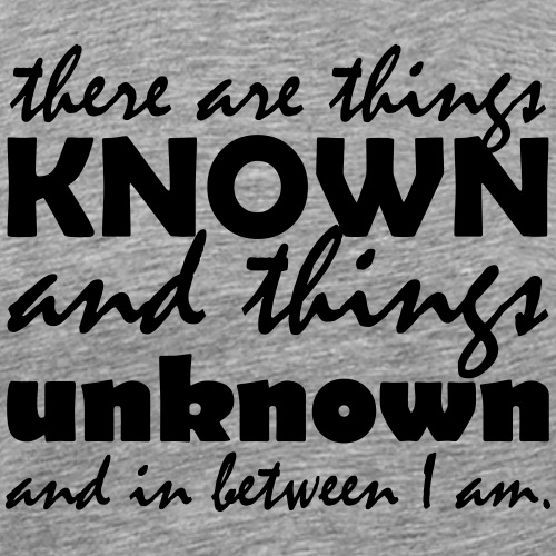 things unknown - Männer Premium T-Shirt