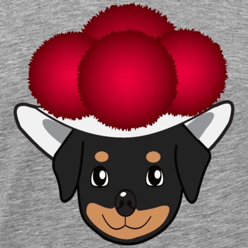 Baby-Rottweiler mit Bollenhut