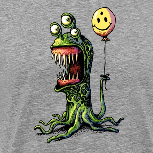 Happy Tentacle Monster - Men's Premium T-Shirt