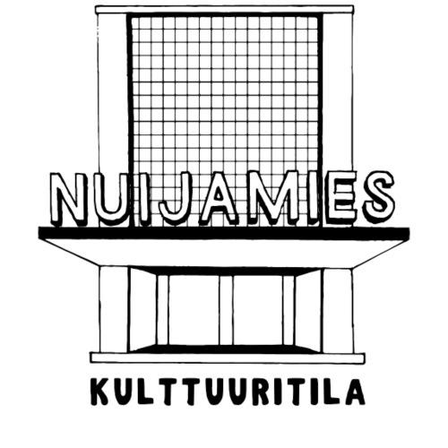 Nuijamieslogo musta - Miesten premium t-paita
