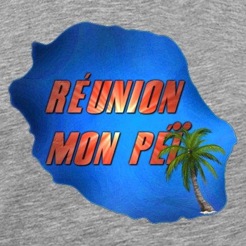 Carte Réunion Mon Péï - T-shirt Premium Homme