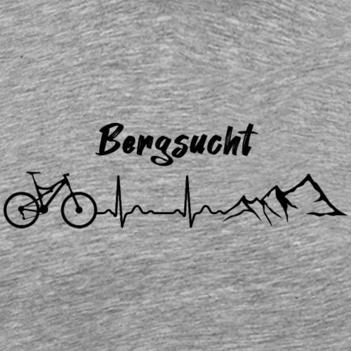 Bergsucht Heartbeat Mountainbike - Männer Premium T-Shirt
