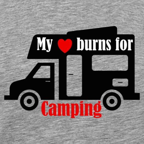 my heart burns for camping - Männer Premium T-Shirt