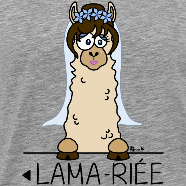 LAMARIEE (1de2), Mariage, mariée, Lama