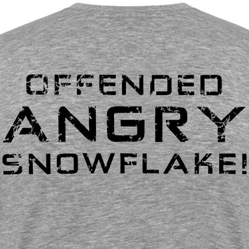 Black Negant logo + OFFENDED ANGRY SNOWFLAKE! - Herre premium T-shirt