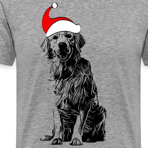 Weihnachten Golden Retriever Geschenk Hund - Männer Premium T-Shirt