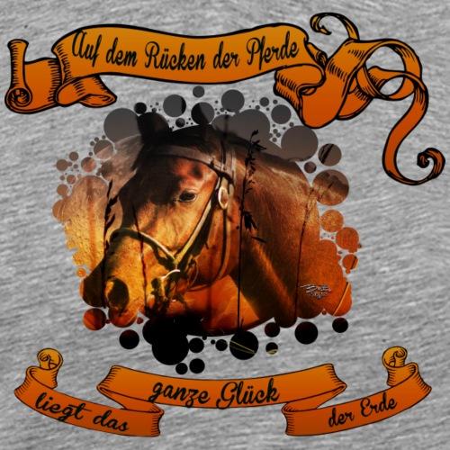 Auf dem Rücken der Pferde - Männer Premium T-Shirt