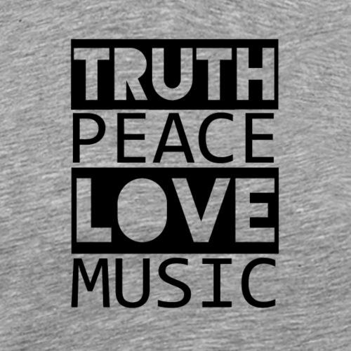 REGGAE - TRUTH PEACE LOVE MUSIC - Männer Premium T-Shirt