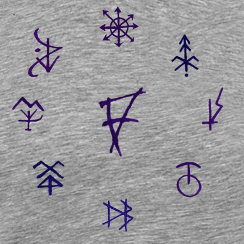 Círculo de runas - Camiseta premium hombre