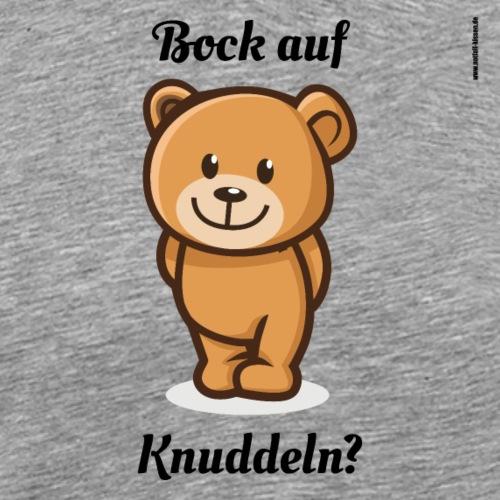 Teddy-Bär: Bock auf Knuddeln - black on white - Männer Premium T-Shirt