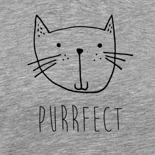 """Kleine Katze """"Purrfect"""" handgezeichnet Geschenk - Männer Premium T-Shirt"""