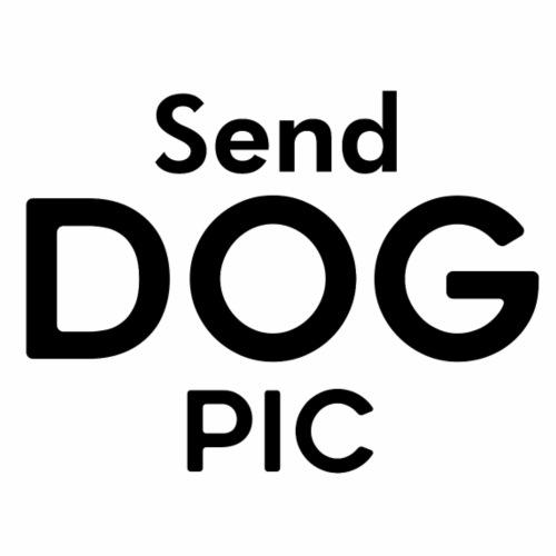 Send dog pic - Miesten premium t-paita