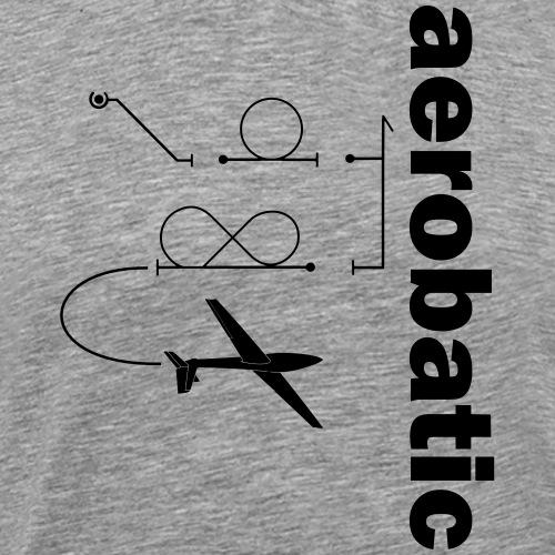 Kunstflug Segelflugzeug Geschenk - Männer Premium T-Shirt