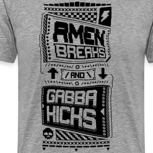 Amen Breaks & Gabba Kicks - Men's Premium T-Shirt