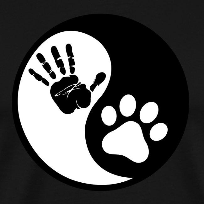 Hunde Yin Yang T-Shirt