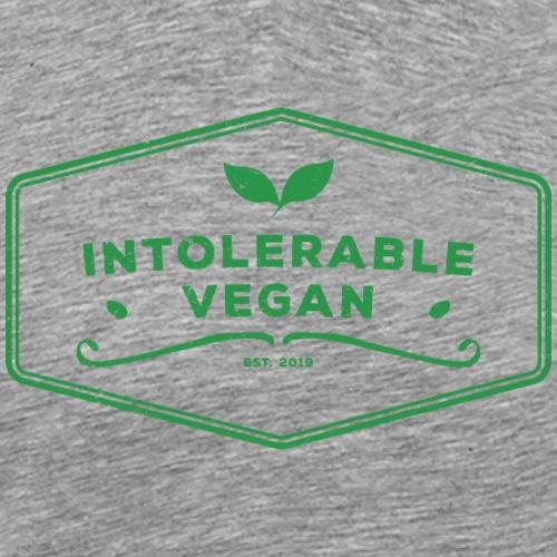Intolerable Vegan Logo - Green - Premium-T-shirt herr