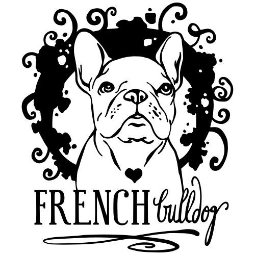 French Bulldog Ornamental - Männer Premium T-Shirt