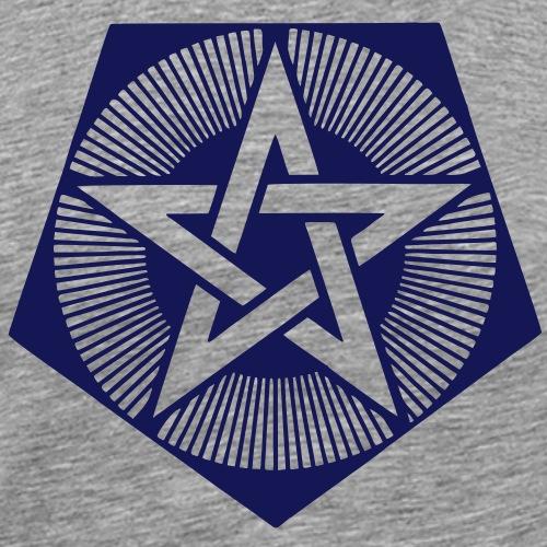 Licht Pentagramm - Kornkreis - Bedfordshire GB - Männer Premium T-Shirt