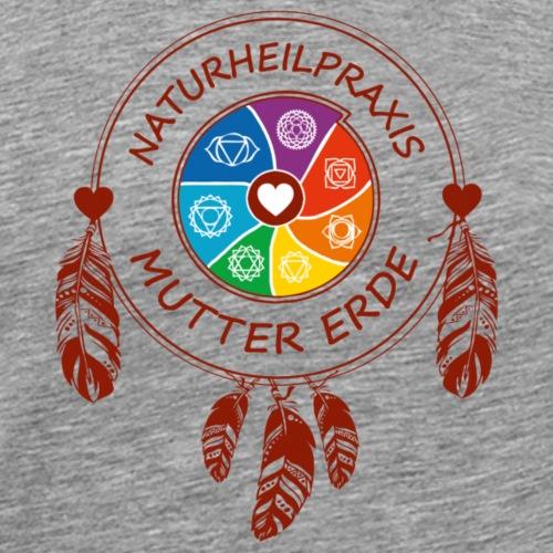 Naturheilpraxis Mutter Erde - Chakra - Männer Premium T-Shirt