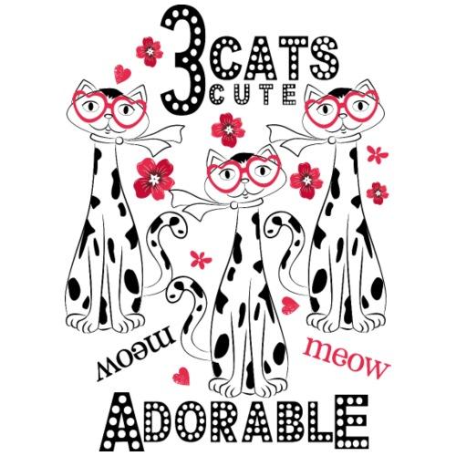3 cats cute adorable - Men's Premium T-Shirt