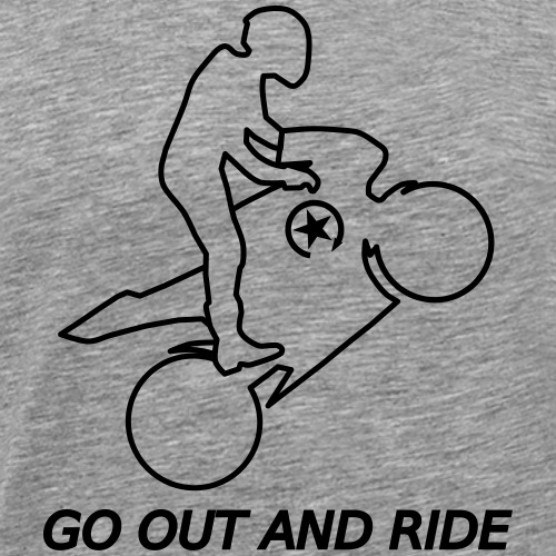 wyjdź i jeźdź na kołach superbike - Koszulka męska Premium