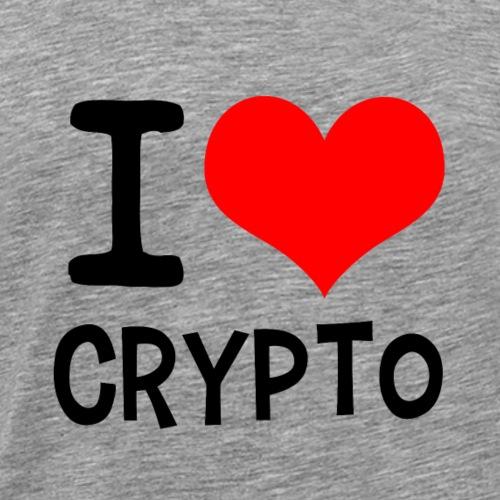 I Love Crypto (black version) - Männer Premium T-Shirt