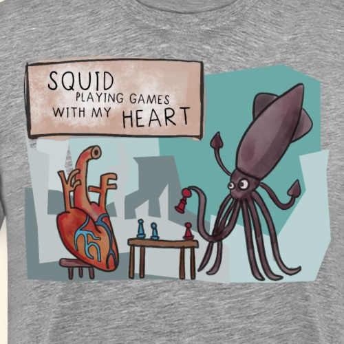Tintenfisch - Squid playing Games with my Heart - Männer Premium T-Shirt