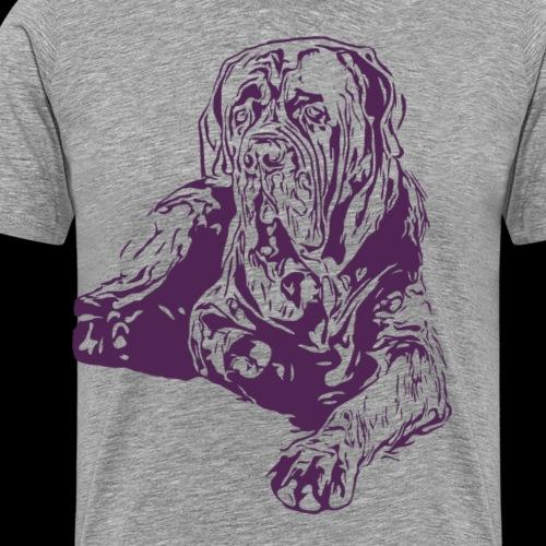 Hund Hundekollektion Dogge liegend Dunkelrot