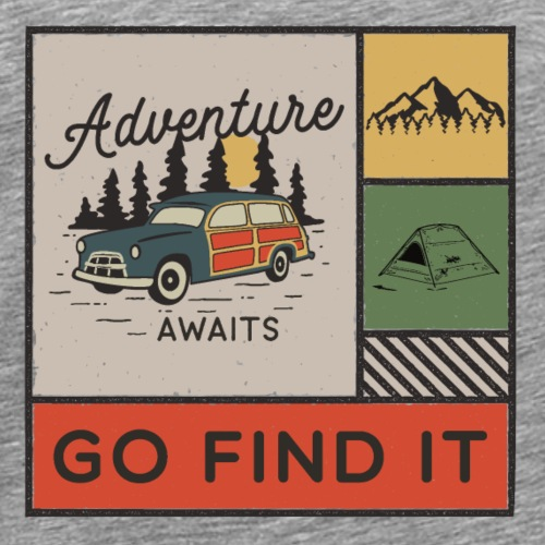 Adventure awaits - T-shirt Premium Homme