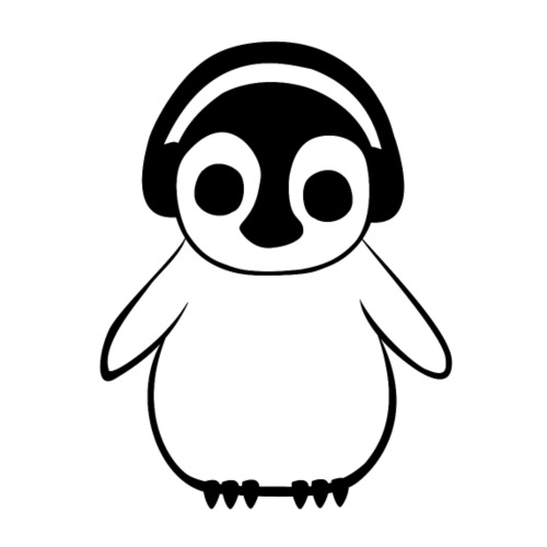 PenguinListens To Music - Men's Premium T-Shirt