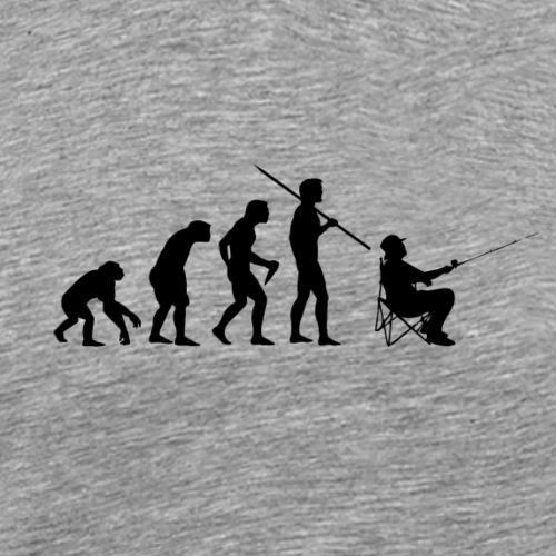 Evolution Angeln (Schwarz) - Männer Premium T-Shirt