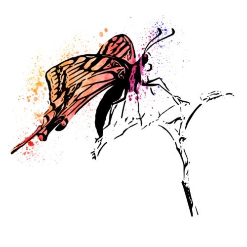 Schmetterling in Aquarelloptik - Männer Premium T-Shirt