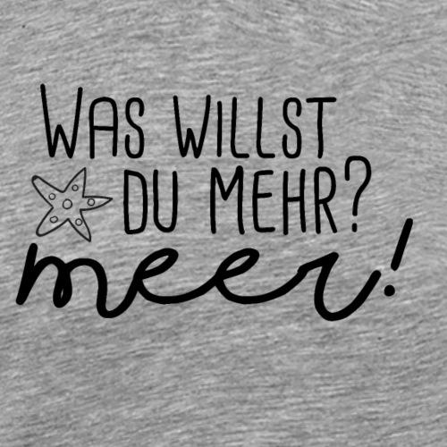 Was willst du mehr? Meer! - Männer Premium T-Shirt