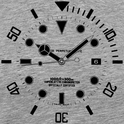 Submarine Luxury Watch Dial Details
