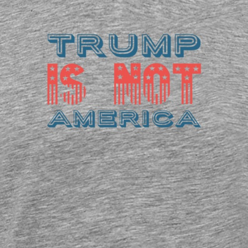 Trump is not America T-Shirt, Protest Donald Trump - Männer Premium T-Shirt