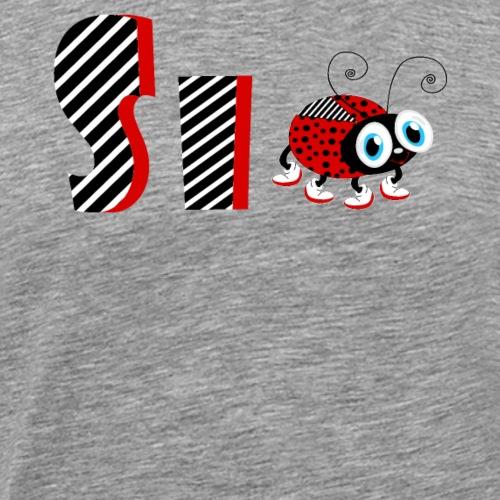 Tifo di regali di t-shirt di Dama Coccinella della famiglia del 6 ° anno - Maglietta Premium da uomo