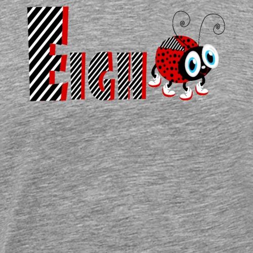 8. Jahr-Familien-Marienkäfer-T-Shirts Geschenk-Tochter - Männer Premium T-Shirt