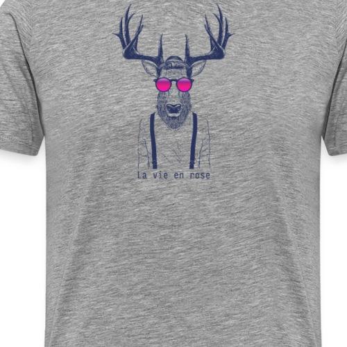 La vie en rose du cerf - T-shirt Premium Homme